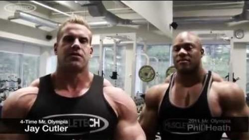Jay Cutler and Phillip Heath Train Chest
