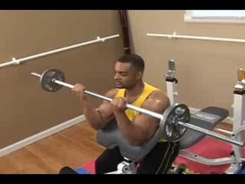 Bodybuilding: Barbell Preacher Biceps Curls