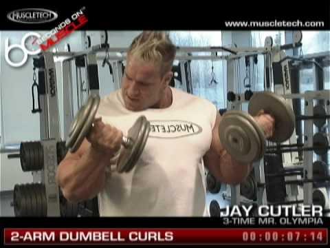 Jay Cutler 2-Arm Dumbell Curls