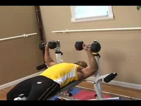 Learn Bodybuilding : Dumbbell Chest Press