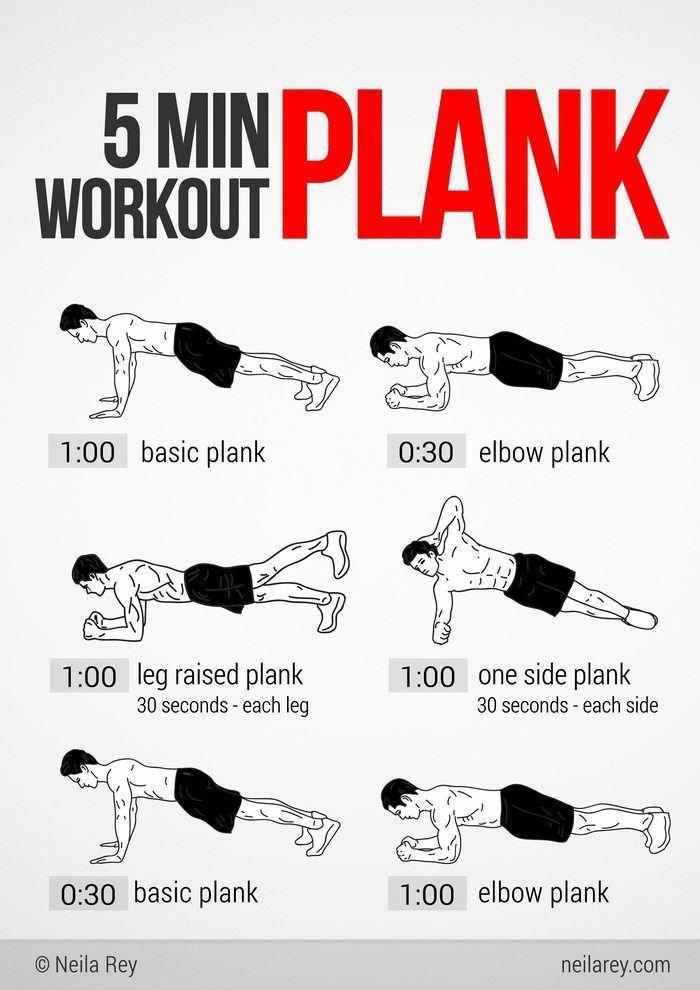 5 Min Workout Plank