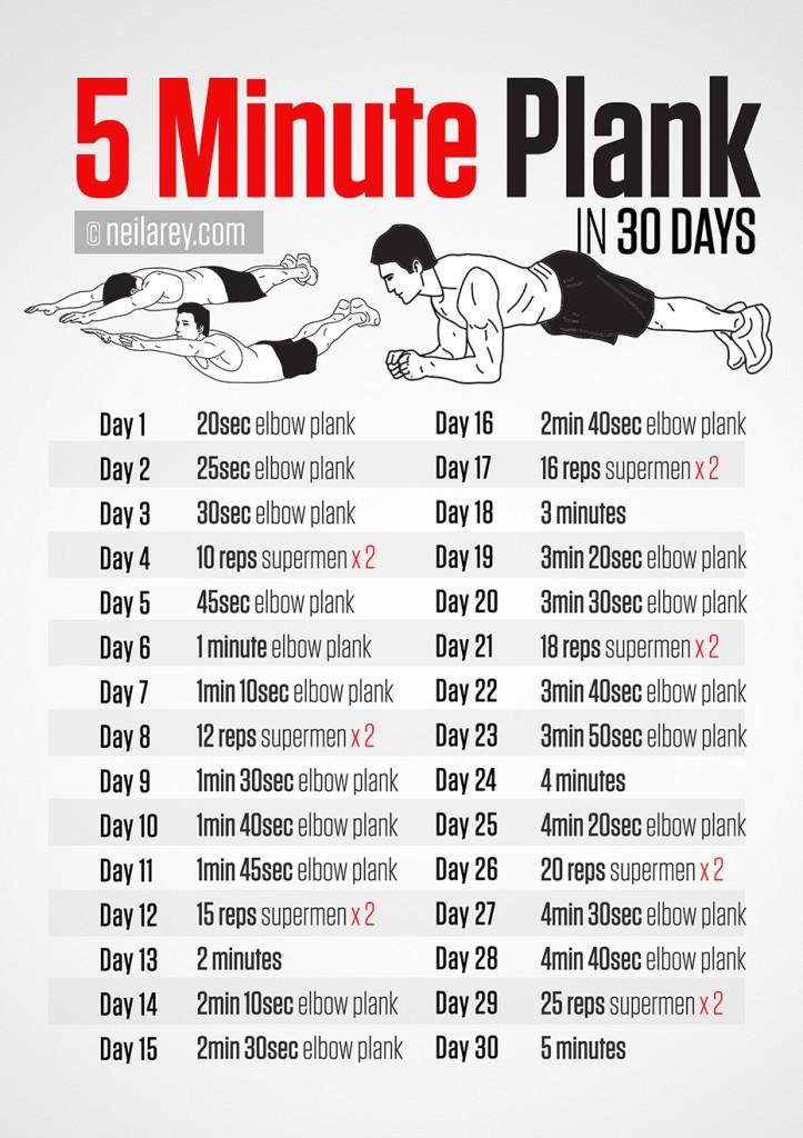 5 Minute Plank 30 days Challenge!