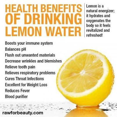 The health benefits of Lemon water!