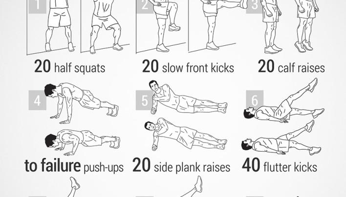 Guardsman Leg and Push-ups Workout