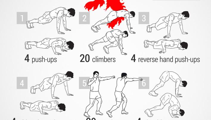 Lannister Push-ups workout